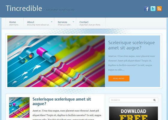 60 Free And Premium Quality WordPress Themes.