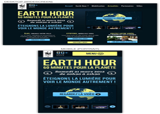 Earth Hour Responsive=