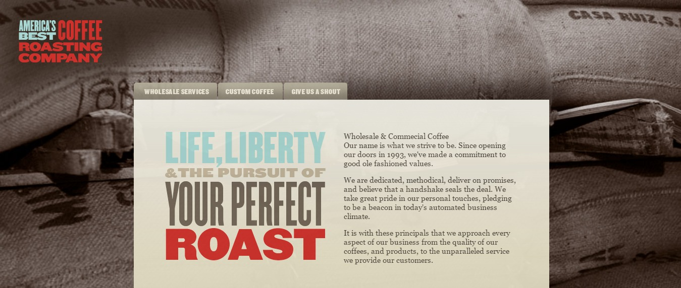 Coffee Roasting Company Website