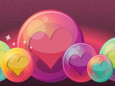 Heart-Bubble-Icons
