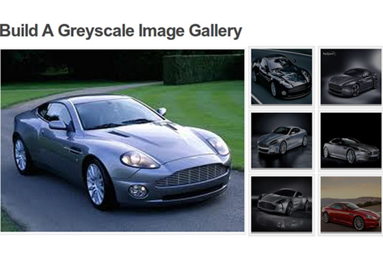 build a greyscale image gallery