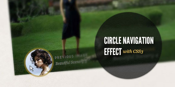 circle navigation effect with css3