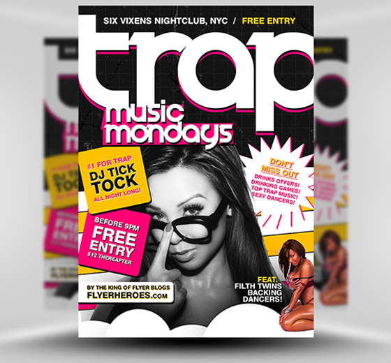 Free Trap Music Flyer Template