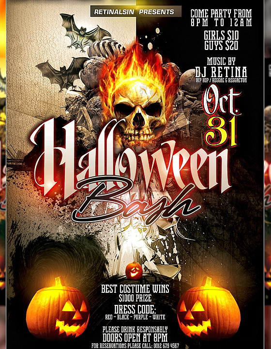 Halloween Bash Flyer