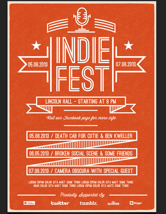 indie fest flyer template 30 great flyer templates free premium