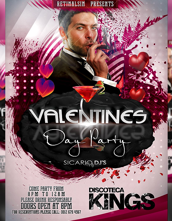 Valentines Day Party Flyer Template