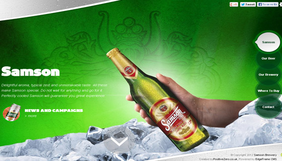 Inspirational Designs of Beverage Websites